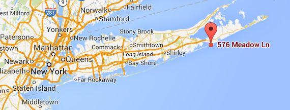 MAP 576 Meadow Lane Southampton NY 11968 - Nancy Meyers - Somethings Gotta Give
