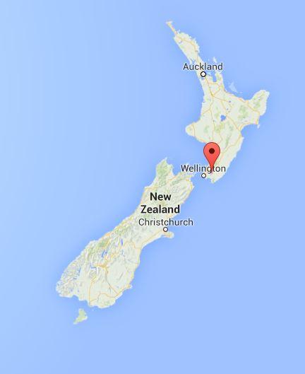 MAP Wellington, New Zealand