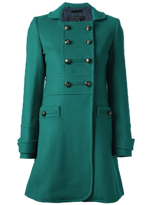 MARC BY MARC JACOBS green double breasted coat
