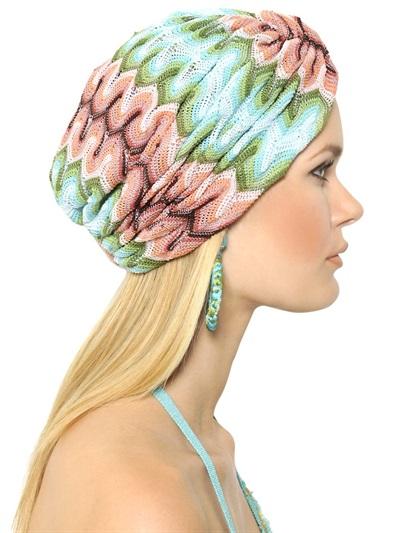 Resort style - MISSONI cotton blend knit turban