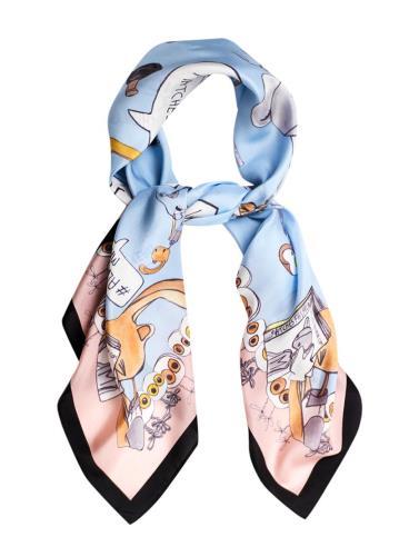 Resort style - Maude illustration scarf by David Longshaw
