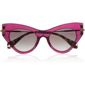 Resort style - Miu Miu embellished cat eye acetate sunglasses