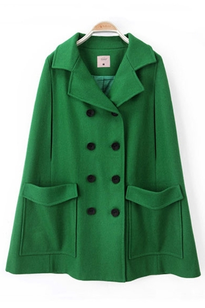 BUY FASHION ONLINE: OASAP green woollen caped-style coat