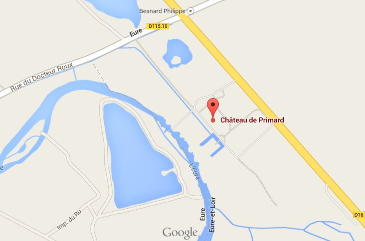 MAP - Chateau de Primard in Normandy France near Houdan Eure-et-Loire