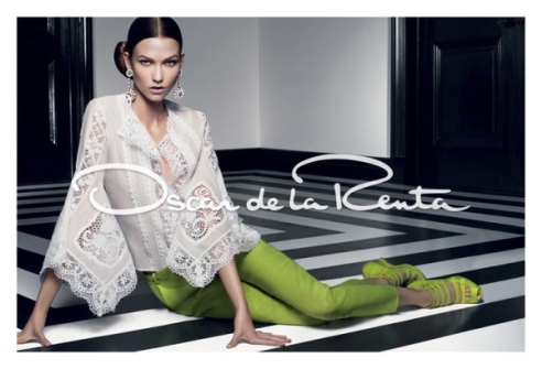 Ad campaign - fashion - Oscar de la Renta - Karlie Kloss - SS2012