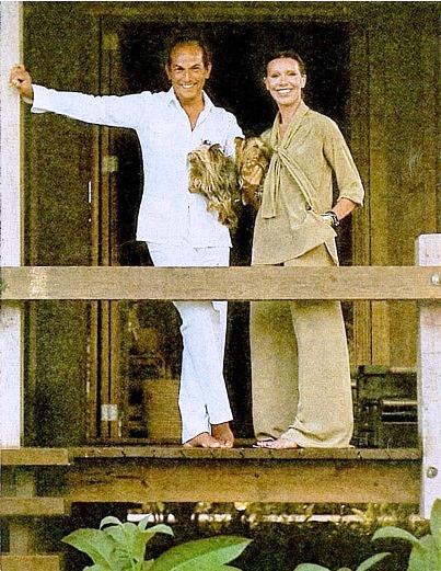 Oscar de la Renta and his first wife the late Francoise de Langlade at Casa de Campo Dominican Republic, Oscar's first house