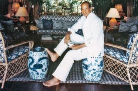 Oscar de la Renta in his first Dominican Republic home