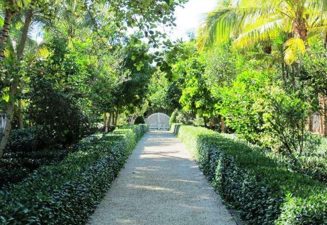 Oscar de la Renta's garden in Punta Cana gardens in the Dominican Republic