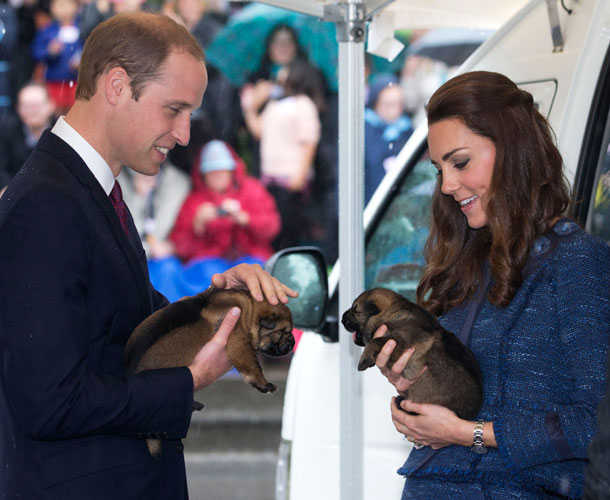ROYAL TOUR: Prince William and Catherine Duchess of Cambridge in a design by New Zealand designer Rebecca Taylor