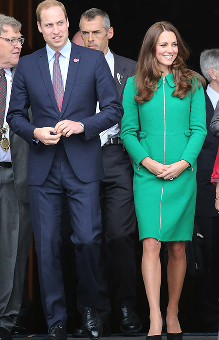 WHAT KATE WORE: Kate Middleton's green coat from Erdem in New Zealand