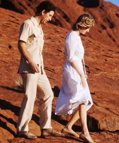 Princess Diana and Prince Charles visit Uluru in March 1983