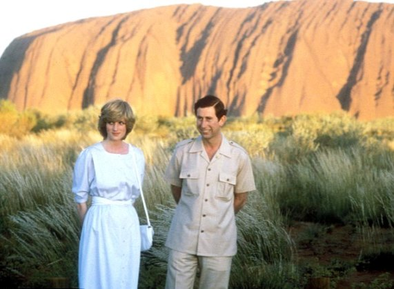 Princess Diana and Prince Charles visited Uluru in March 1983