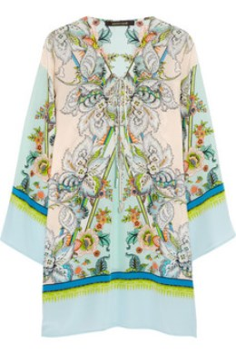 Resort style - Roberto Cavalli printed silk crepe de chine kaftan