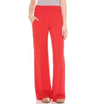 Resort style - Splendid red woven wide leg pants