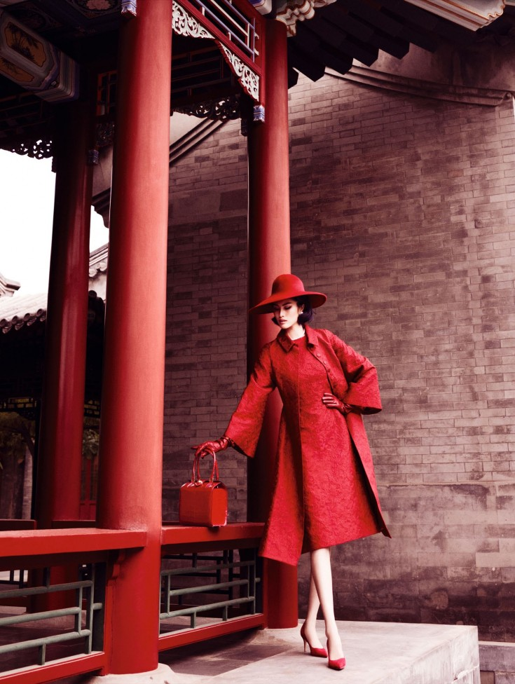 TOP ASIAN MODELS: Sui He by Mario Testino for Vogue China December 2013