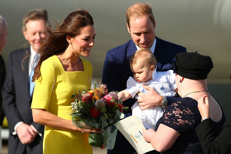 Royal Tour The Duke And Duchess Of Cambridge And Prince