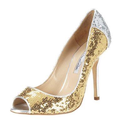 Shoe bling: Tina heel - Oscar de la Renta shoes
