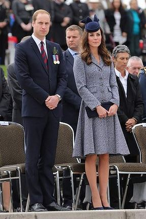 Kate Middleton wearing a coat from Michael Kors Spring 2014 collection
