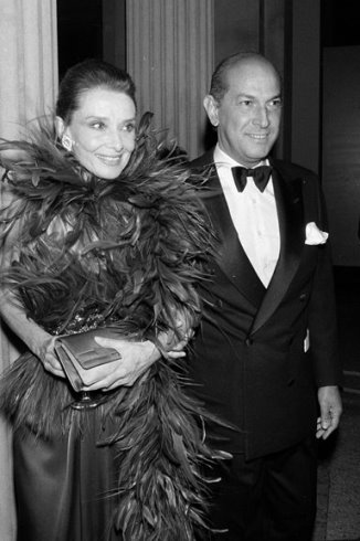 Oscar de la Renta with actress and UNICEF's Audrey Hepburn
