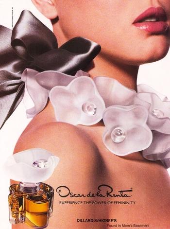 Oscar de la Renta vintage perfume ad