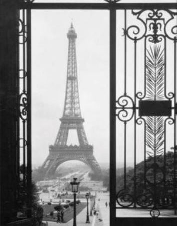 Black and white photography - The Eiffel Tower - Paris - in black and white - window