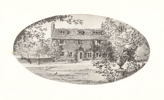 VIVIEN LEIGH HOUSE: Tickerage pictured on the front of a Christmas card sent out by Vivien Leigh