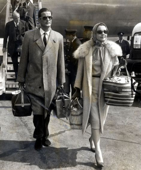 Actress Vivien Leigh with her companion Canadian actor John Merivale
