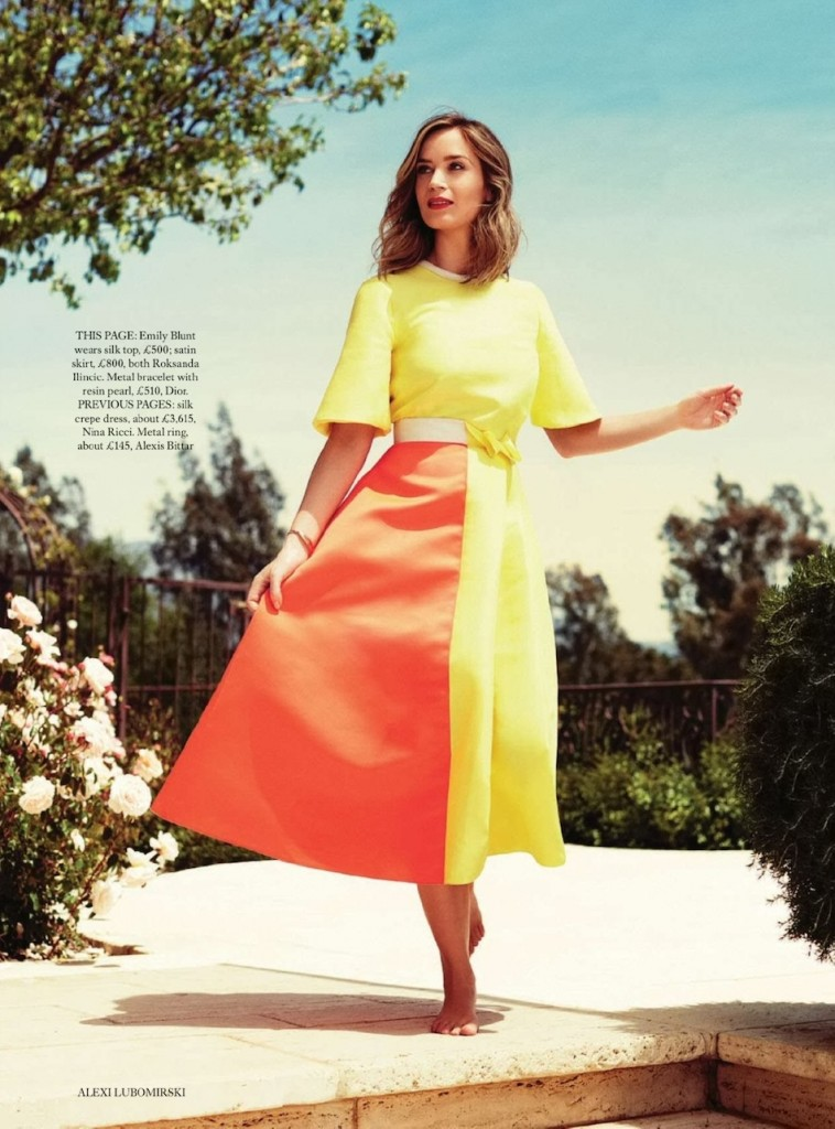Emily Blunt by Alexi Lubomirski for Harpers Bazaar UK July 2014