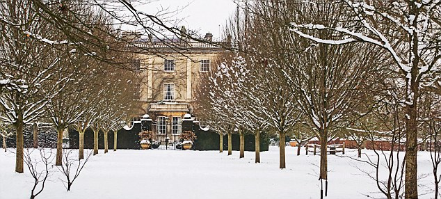 ROYAL HOUSES: Highgrove House, the home of Prince Charles and Camilla, in winter