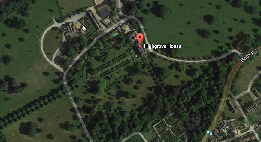 AERIAL Highgrove House Tetbury Gloucestershire - Prince Charles country estate