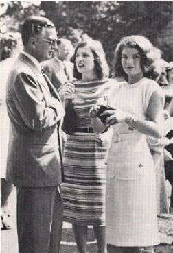 JACKIE BOUVIER KENNEDY: Jackie and Lee with their father - Black Jack Bouvier