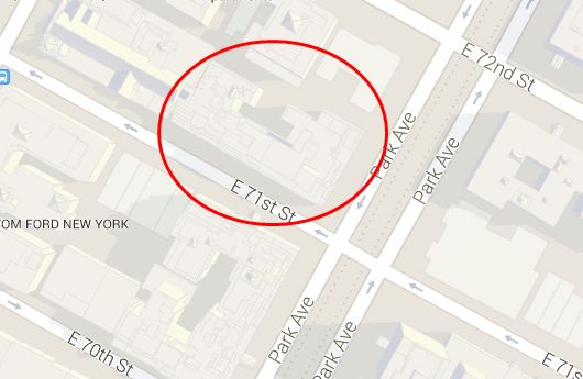 MAP 740 Park Avenue Manhattan