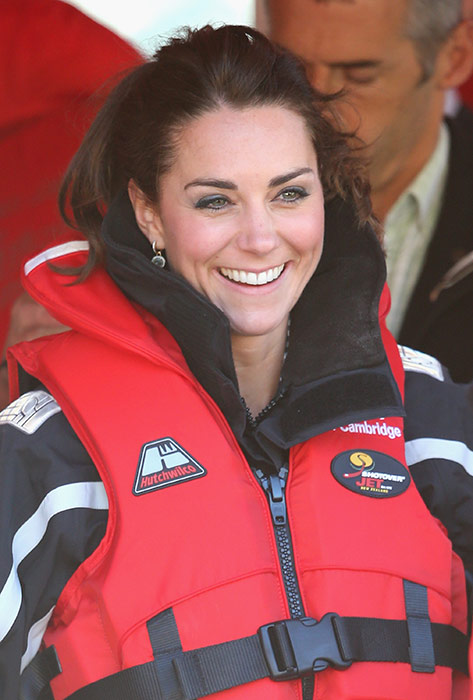 PHOTOS:  Kate of Cambridge white-water rafting in Queenstown NZ royal tour