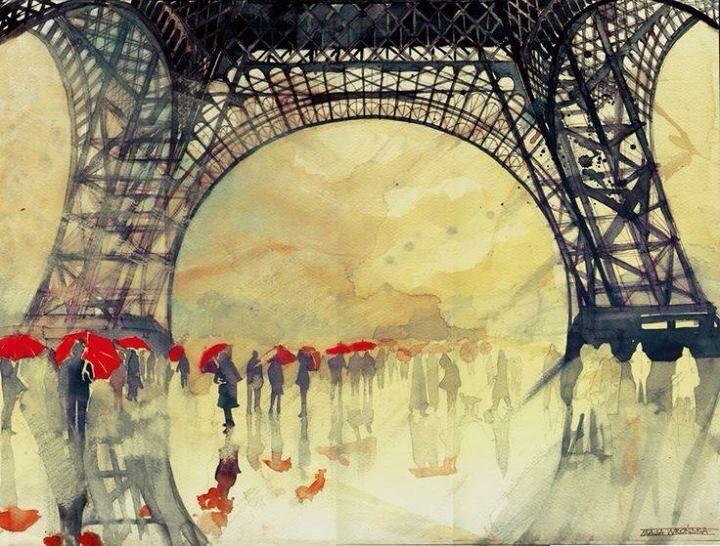 ILLUSTRATION Rain in Paris