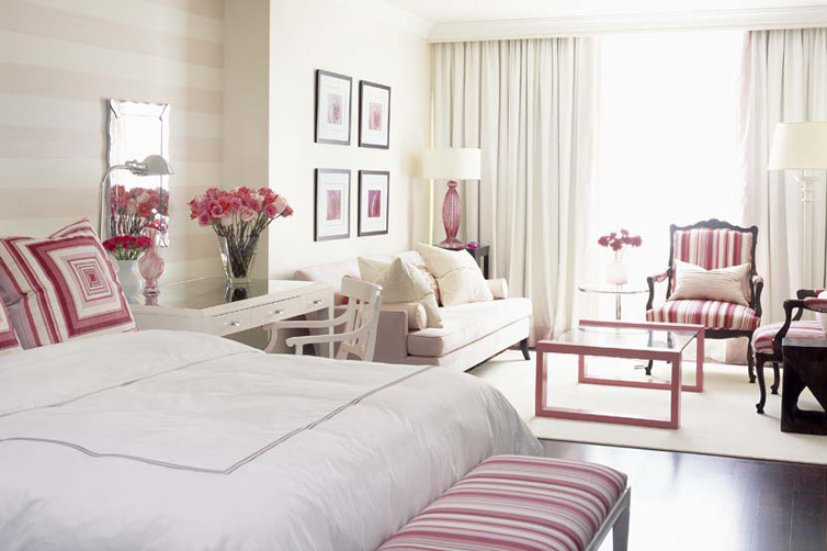 Sarah Richardson designs a pink Park Hyatt Breast Cancer Hotel Room - Toronto