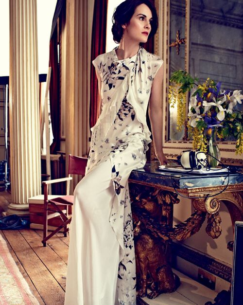 Michelle Dockery - Lady Mary Crawley - A GLAMOROUS LIFE: The ladies of Downton Abbey by Alexi Lubormirski for Harpers Bazaar UK August 2014