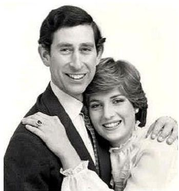 Prince Charles and Lady Diana Spencer - official engagement photo 1981
