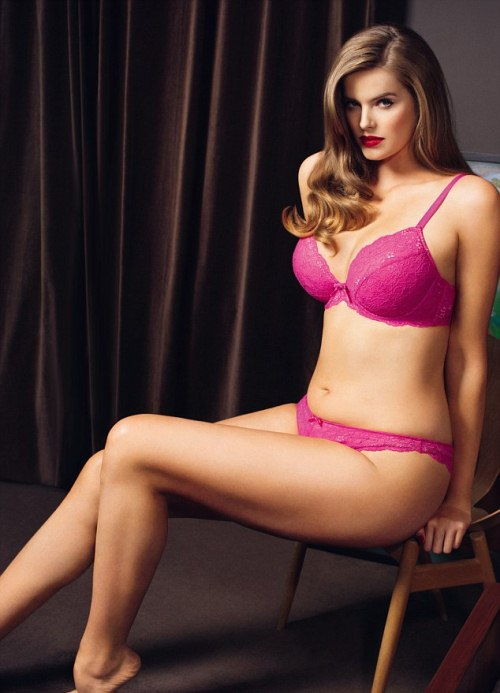 PHOTO: Robyn Lawley for Boux Avenue Lingerie