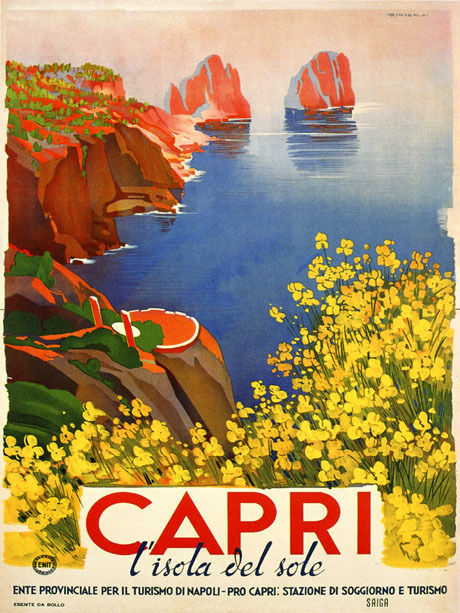 RESORT STYLE: Inspired by the colours of Capri, Italy - red, coral, orange, yellow and navy blue