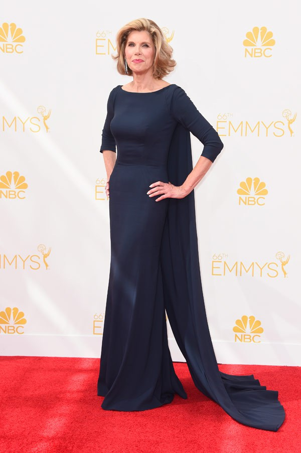 BEST RED CARPET: Christine Baranski in Zac Posen - Emmys 2014 red carpet photos
