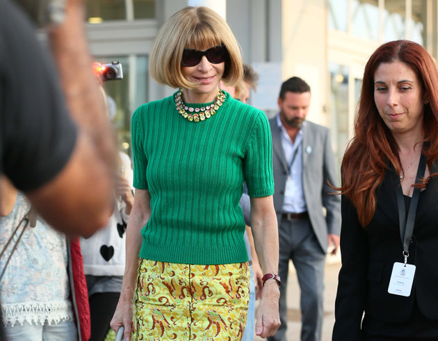 PHOTOS: Anna Wintour touches down in Venice for George and Amal wedding