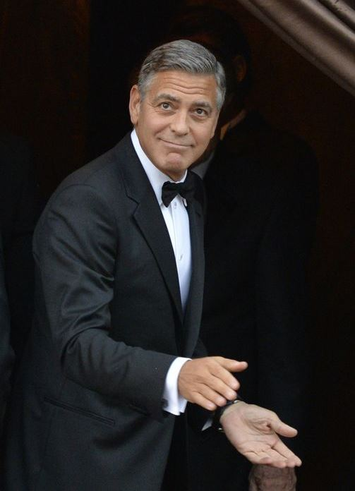 George Clooney wearing Armani for his wedding 2014