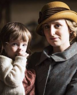 SEASON 5: Lady Edith and daughter - Downton Abbey