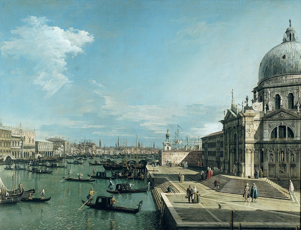 GEORGE CLOONEY-AMAL WEDDING: Resembled this painting by Canaletto from the 1700s