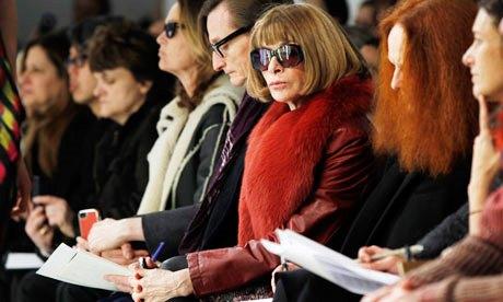 Fashion runway - Anna Wintour and Grace Coddington