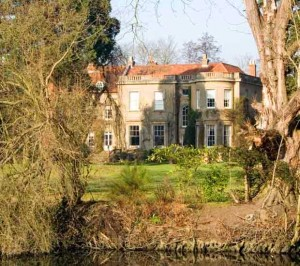 A view from the river of George and Amal Alamuddin Clooney home in England on the River Thames
