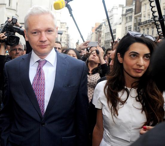 PHOTOS: Lawyer Amal Alamuddin with Wikileaks founder Julian Assange