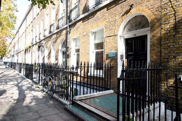 The London office of Amal Clooney: Doughty Street Chambers exterior at 54 Doughty Street, Holborn, London, near Grays Inn