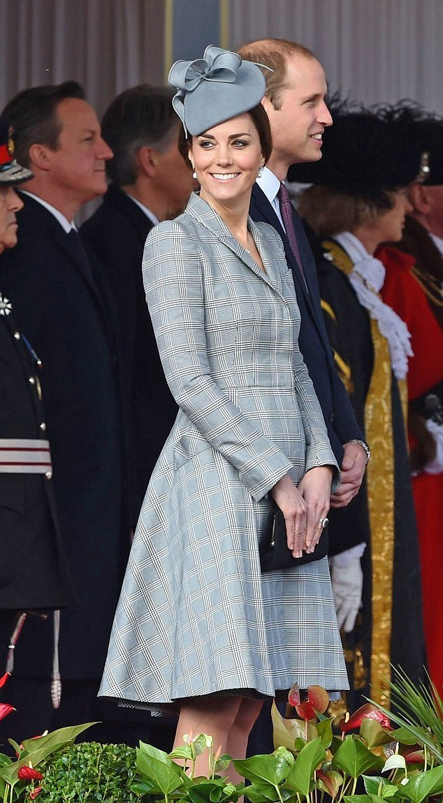 PHOTOS: Kate Middleton wears another Alexander McQueen coat dress and Jane Taylor hat - October 2014