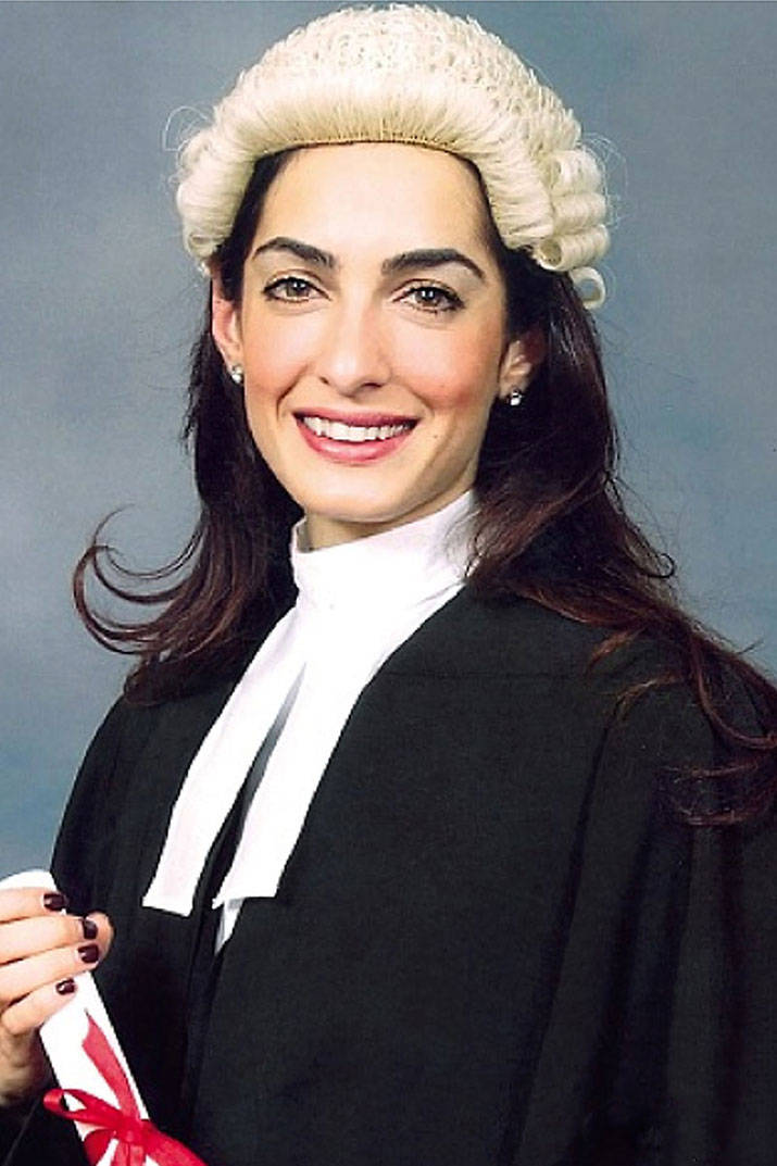 PHOTO GALLERY: Human rights lawyer Amal Alamuddin as a barrister